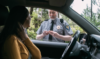 Stock image depicting an action related to Safe and Legal Traffic Stops (Online)