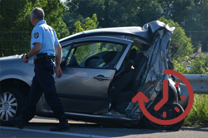 Stock image depicting an action related to At-Scene Traffic Crash/Traffic Homicide Investigation (Online-Accelerated)