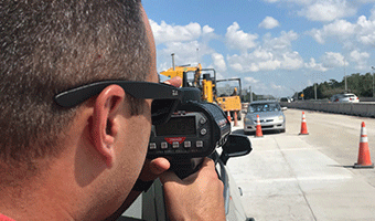 Stock image depicting an action related to Police Traffic Laser/RADAR Operator (Online)