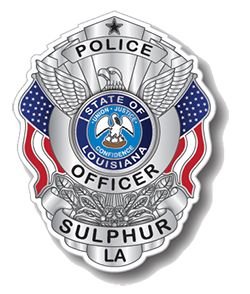 Sulphur Police Department Badge